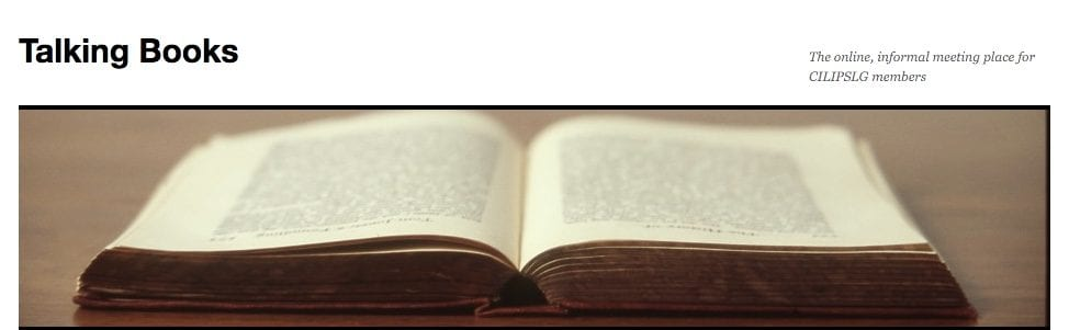 Blog | CILIP SLG Talking Books Newsroom