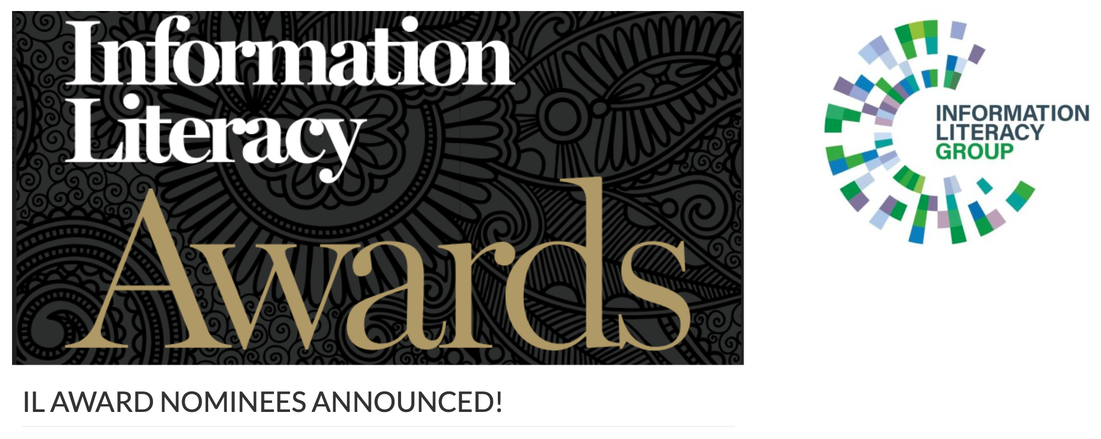 Information Literacy Awards 2020 Shortlist Announced Newsroom