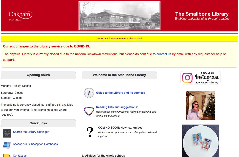 Smallbone Library Homepage