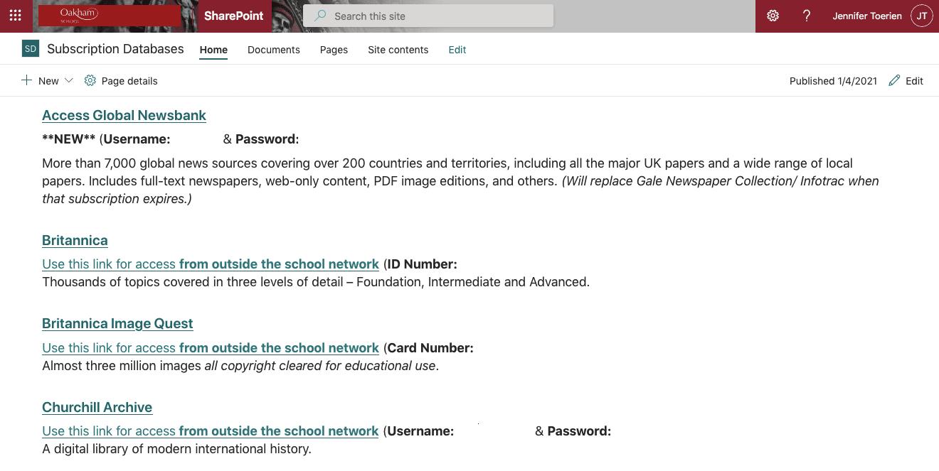 Sharepoint databases